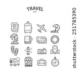 travel and tourism icons set.... | Shutterstock .eps vector #251785390