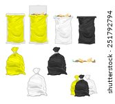 tied garbage bags and bins.  | Shutterstock .eps vector #251792794