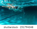 male swimmer at the swimming... | Shutterstock . vector #251794348