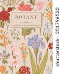 botany. vintage floral card.... | Shutterstock .eps vector #251796520
