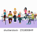 concept of the coworking center.... | Shutterstock . vector #251800849