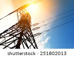 high voltage post or high... | Shutterstock . vector #251802013