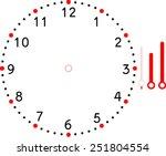 clock face blank | Shutterstock .eps vector #251804554