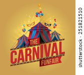 the carnival funfair and magic... | Shutterstock .eps vector #251821510