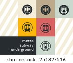 public transport icon set  flat ... | Shutterstock .eps vector #251827516