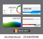 modern and colorful business... | Shutterstock .eps vector #251845048