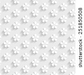 3d seamless pattern with flowers | Shutterstock .eps vector #251850508