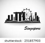 singapore skyline. city... | Shutterstock .eps vector #251857903