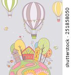 cute vector illustration with... | Shutterstock .eps vector #251858050