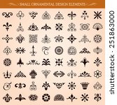 set of small ornamental vintage ... | Shutterstock .eps vector #251863000