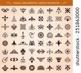set of small ornamental vintage ... | Shutterstock .eps vector #251863000