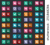 flat style game icons buttons...