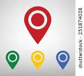 map point icon | Shutterstock . vector #251874028
