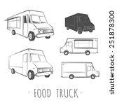 food truck blank  | Shutterstock .eps vector #251878300