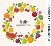 healthy food circle of... | Shutterstock .eps vector #251880034