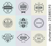 assorted retro design insignias ... | Shutterstock .eps vector #251880193