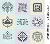 assorted retro design insignias ... | Shutterstock .eps vector #251880214