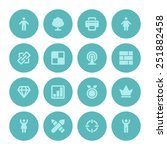 flat icons vector set for web...
