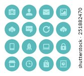 flat icons vector set for web... | Shutterstock .eps vector #251882470