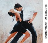 Tango Dancers Digital Painting...