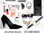 outfit of business woman in... | Shutterstock . vector #251885800