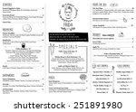 restaurant menu template.... | Shutterstock .eps vector #251891980