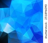 abstract geometrical blue... | Shutterstock .eps vector #251896090