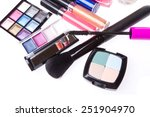 set of makeup products isolated ... | Shutterstock . vector #251904970