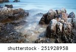 pebble stones by the sea. silky ... | Shutterstock . vector #251928958