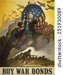 buy war bonds.' world war 2... | Shutterstock . vector #251930089