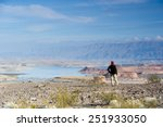 Backpackers In  Lake Mead