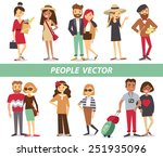 people characters | Shutterstock .eps vector #251935096