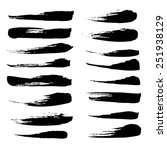 a large set of broad strokes... | Shutterstock .eps vector #251938129