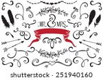 wedding design elements set | Shutterstock .eps vector #251940160