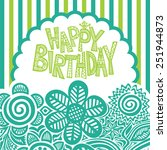 happy birthday greeting card... | Shutterstock .eps vector #251944873