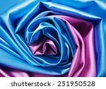 Pink And Blue Satin Fabric For...
