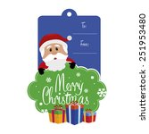 abstract cute christmas...   Shutterstock .eps vector #251953480