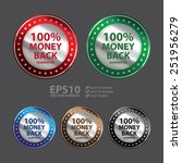 vector   circle metallic 100 ... | Shutterstock .eps vector #251956279