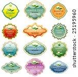 vector labels for various...   Shutterstock .eps vector #25195960