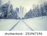 Winter Railway To The Modern...