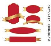 set of blank label. | Shutterstock .eps vector #251971360