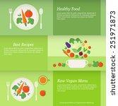 set of horizontal business...   Shutterstock .eps vector #251971873