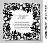 wedding invitation cards with... | Shutterstock . vector #251975524