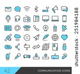 colorful communication icon set | Shutterstock .eps vector #251984188