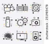 technology infographic | Shutterstock . vector #251985478