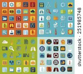set of medical flat icons | Shutterstock . vector #251985748