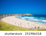 people relaxing on the bondi... | Shutterstock . vector #251986318