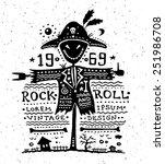 illustration of vintage grunge... | Shutterstock . vector #251986708