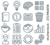 productivity and time... | Shutterstock .eps vector #251986858