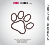paw  web icon. vector design | Shutterstock .eps vector #251991880